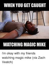 Magic Mike Meme - when you get caught watching magic mike i m okay with my friends