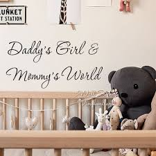 aliexpress com buy daddy u0027s mummy u0027s world wall decal quotes