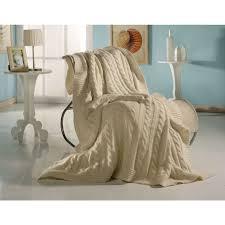 plaid en cachemire plaid torsade en maille mixte cachemire et laine couleurs naturelles