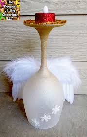 best 25 diy christmas wine glass candle holders ideas on