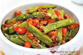 cuisiner haricot vert sauté sec de haricot vert recette chinoise