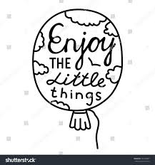 quote about life enjoy hand drawn typography poster enjoy littie stock vector 324128057
