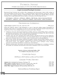 Legal Secretary Resume Samples by Paralegal Resume Objective Examples