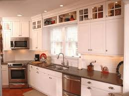 How To Decorate Above Cabinets Above Kitchen Sink Cabinet Ideas Black Granite Countertop Fancy
