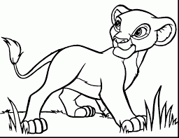 good disney lion king coloring pages with lion coloring page
