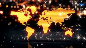 3d World Map by World Map Gold City Light Shine Bokeh 3d Background Loop Animation