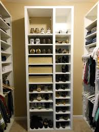shoe storage closet organizer and shelving unit also clothes