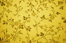 gold floral print fabric texture picture free photograph