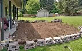 east olympia raised patio ajb landscaping u0026 fence