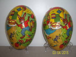 large paper mache egg easter egg candy container large paper mache egg shaped