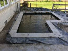 Modern Backyard Diy Modern Backyard Koi Pond On A Budget Hometalk