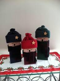 wooden carolers by sewcutecraftsbymcf winter