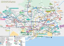 Dc Metro Rail Map Barcelona Metro Map Of Barcelona Metro Tram Train And Airport