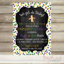 king cake babies bulk mardi gras digital baby shower invitation with by creolepaperie