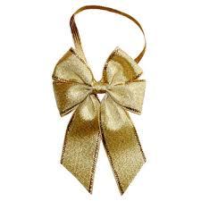metallic ribbon fashion stretch metallic ribbon bow with elastic rope for gift