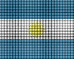 argentina flag crochet pattern