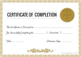 27 certificate of completion templates free printable sample