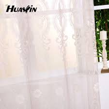 product 2015 new plain embroidery curtain fabrics 100 polyster
