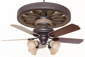Wagon Wheel Lighting Fixtures Cheyenne Wagon Wheel Ceiling Fan Pertaining To Western Fans