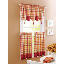 Yellow Kitchen Curtains Valances Green Yellow Country Plaid Kitchen Curtains Valance Or
