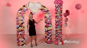 wedding arches party city s day party personalized heart arch candy wedding