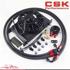 oil cooler fan kit 25 row an8 engine oil cooler filter adapter hose kit 7 electric