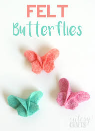 butterfly hair diy felt origami butterfly hair cutesy crafts