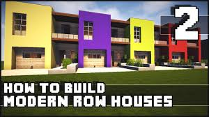 minecraft house how to build modern row houses part 2 youtube