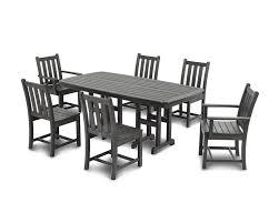 polywood traditional garden 7 piece dining set u0026 reviews wayfair