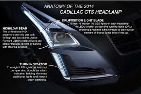 cadillac cts lights 2014 cts a look at its sleek led ls gm authority
