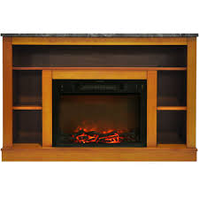 seville 47 in electric fireplace with 1500w charred log insert