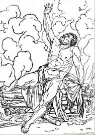 hercules coloring page tired hercules coloring page free mythology coloring pages