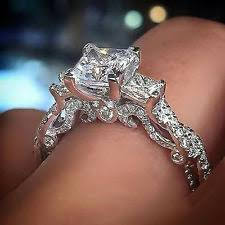 real diamond engagement rings excellent princess white gold three diamond engagement rings