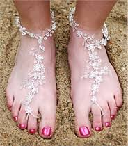 barefoot sandals for wedding foot lace barefoot sandals sold in pairs 3 designs