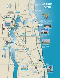 Map Of Florida Beaches by North Florida Map Atlantic Beach Country Club Jacksonville