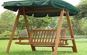 wooden garden swing bench home garden design