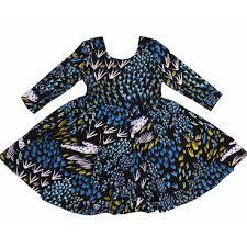 field of dreams sleeve scoop neck twirl dress in bright blue
