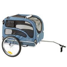 blue 2 in 1 pull behind dog bike carrier bicycle pet trailer