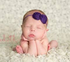 newborn headband baby girl headband newborn headband photography prop purple