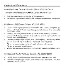 Seo Specialist Resume Sample by Seo Resume Templets U2013 6 Free Samples Examples Format