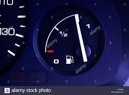 car dashboard fuel gauge on car dashboard stock photo royalty free image