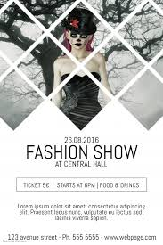 fashion show event flyer template with background photo postermywall
