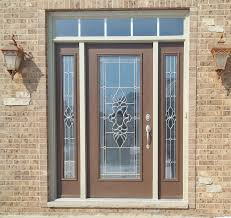 Exterior Steel Entry Doors With Glass Provia Legacy Steel Entry Door Tudor Brown Exterior With Emerald