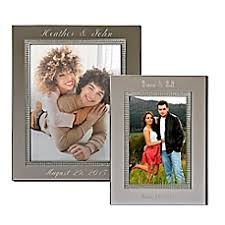 personalized wedding photo frame personalized wedding picture frames photo albums bed bath beyond