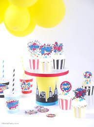 superhero birthday party printables supplies birdsparty com