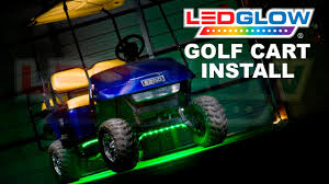 golf cart led strobe lights ledglow how to install golf cart led lights youtube