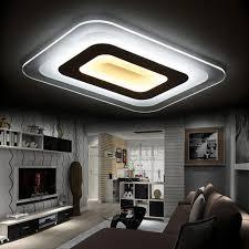 cool rectangular shaped acrylic shade led lights for interior