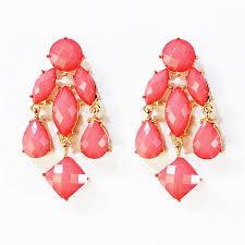 Pink Chandelier Earrings Chandelier Earrings Rosy Pink Earrings With Dangle