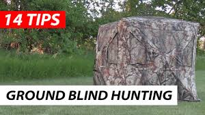 Bow Hunting From A Ground Blind Hunting In A Ground Blind 14 Tips Youtube