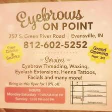 eyebrows on point tattoo 757 s green river rd evansville in